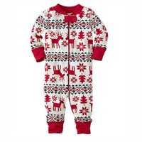 Wholesale Cute Design Infant Toddlers Climb Clothing Kids Reindeer Pattern Long Sleeve Winter Merry Christmas Babies Pyjamas Kids Sleep Wear Jumpsuit
