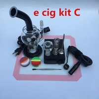 Wholesale concentrate pipe bubbler beaker bongs smoking heady with nail Electronic Temperature Controller Box Heater Coil titanium Nail Carb cap