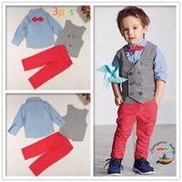 baby waist coat - Baby Boy Formal Party Wedding Tuxedo Waist Coat Outfit Suit Children s Fashion Casual Uniforms colors