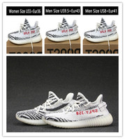 Wholesale 2017 New White Boost V2 Best Running Shoes Men Women High quality Cheap Sneakers boost Running Shoes Kanye West