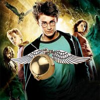 Wholesale Hot new Harry Potter Hogwarts Quidditch Silver Wings Snitch Gold pendant golden snitch Bracelet golden