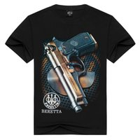 action wear - Foreign Wear New Product T shirts for men Pity Man Short Leisure Round Neck Action Pistol Sleeve d Printing Men s W t shirt
