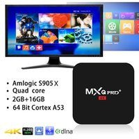 Wholesale Android box AML S905X MXQ Pro Android K HD TV set top box double frequency WIFI G G