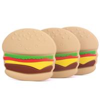 baby hamburger - New Baby Hamburger Teether Food Grade BPA free Soft Silicone Teething Toys Nursing Tool