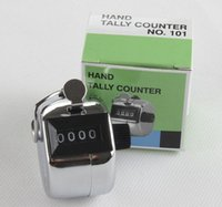 Wholesale 120 Promotion Stainless Metal Mini Sport Lap Golf Handheld Manual Digit Number Hand Tally Counter Clicker Silver