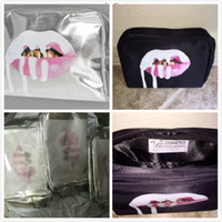 Wholesale in stock Kylie Jenner Make Up Bag Birthday holiday Collection Makeup Bag Kylie Lip Kit Bag High Quality