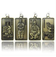 antique small bronze figure - Terracotta Army Keychain tourism souvenir crafts Chinese characteristics small gift