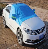 automobile antifreeze - 1pcs Automobiles Exterior Accessories Car Winter Covers Car Winter Garments Antifreeze Night Reflective Warning Car Half Garments