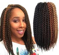 al por mayor peinados para las trenzas-La caja libre del envío trenzan el ganchillo del pelo 12 '' Extensiones de pelo del ganchillo La trenza sintética del ganchillo Torsión senegalesa de la trenza Hair Jumbo Hairstyles