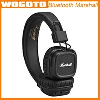 Wholesale Marshall Major II Bluetooth Wireless Headphones in Black DJ Studio Headphones Deep Bass Noise Isolating headset for iphone Samsung