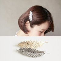 Wholesale new style Fashion Bling Golden women Hair Clip accessories Headband gold hollow out bow barrette hair pins gift girls