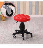 Wholesale Bedroom stool European fashion lift chair black coffee chair hair salon Furniture retail stool shop dining room
