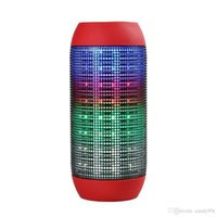Wholesale 1 Piece up Pulse speaker Pill bluetooth mini speaker audio wireless big sound box support TF card portable Speakers with LED light FM