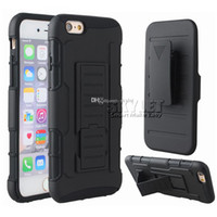 belt fittings - For Galaxy S7 iPhone Hybrid Robot Case Armor Impact Case For Zmax Pro Z981 Coolpad With Belt Clip Holster Kickstand Combo Case OPP Package