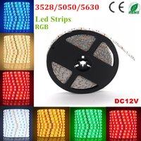 ac dc wire - 500m RGB Led Strips SMD M Leds Waterproof IP65 Led Flexible Strips Light DC V With M adhesive tape