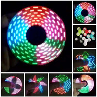 8-11 Years b tips - LED switch Discoloration lights Hand Spinners Fidget Spinner Top Quality Triangle Colorful flash Finger Spinning Colorful Tip Tops Toys B