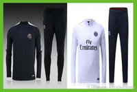 Wholesale Quality assurance france Paris Saint Germain home away thailand long sleeve kit soccer Jerseys traning suit Jerseys uniforms set shirt