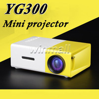 Wholesale DHL YG300 YG Mini Portable LED Projector with USB SD AV HDMI Input Home Theater Media Player PK GM40 GM60