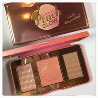 Wholesale Factory Direct New Arrivals hot new Sweet Peach Glow infused Bronzers Highlighters makeup blush palette DHL