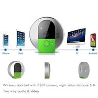 Wholesale Wireless Doorbell Camera WiFi Door Intercom Peehole Night Vision wi fi IP Video Door Camera Bell Phone For IOS Android