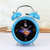 Wholesale 3 D Creative Metal Table Alarm Clock The Head of A Bed Desktop Clock