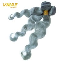 Wholesale Silver grey A Grade Brazilian Virgin Human Hair Unprocessed Virgin Human Hair Extensions gray Body Wave Hair Bundles Good
