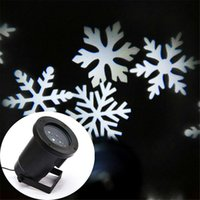 Wholesale Waterproof Outdoor Christmas Led Stage Light Romantic White RGB Snowflake projectors Mini Christmas laser lights