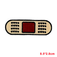 aids badge - Patch embroidered iron on cloth badges kawaii biker band aid bandage applique
