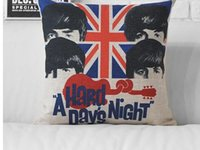 Wholesale Rock Roll music band The Beatles Pink Floyd The Who Rolling Stones The Union Jack cushion cover throw pillow case
