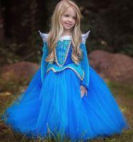 TV & Movie Costumes aurora clothing - New Cosplay Halloween Girls Dress Cinderella Dresses Children Sleeping Beauty Princess Dress Rapunzel Aurora Kids Party Costume Clothing
