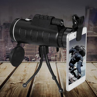 Wholesale PANDA Day and Night Vision x60 HD Handheld Optical Monocular Outdoor Camping Hunting Telescope Set With Compass Tripod Phone Clip