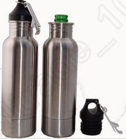 Wholesale Beer Armour Koozie Keeper Stainless Steel bottle keeper Armour Bottle Koozie Insulator with Bottle Opener OOA611