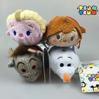best screen cleaner - Tsum Tsum plush toy dolls cute cartoon mini Princess Elsa Anna Olaf soft stuffed doll screen cleaner bags pendant best gift
