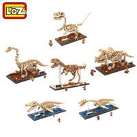 animal creator - LOZ Dinosaur Fossil Tyrannosaurus Rex Velociraptor Triceratops Skull Model Diamond Building Block Assembly Toys Creator Series