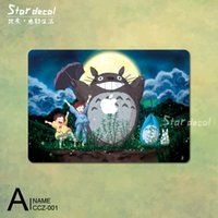 Wholesale Totoro cartoon Top Vinyl Front Cover Laptop Sticker For Apple Macbook Air Pro Retina inch Protective Skin