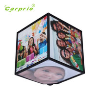 Wholesale best gift Rerating Revoling Multi Picture Photo Frames Cube Black Home Decor Family Feature high quality DEC6