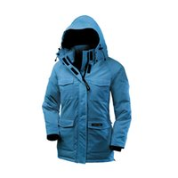 arctic camping - New Coming Ca Goose Brand Women Camp Hoody Winter Slim Fit Hooded Duck Down Windproof Warm Arctic Expedition Outdoor Casual Outerwear