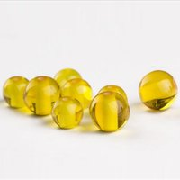 bead supplies retail - 20pcs Synthetic Amber Beads Gold Yellow Color Bead for DIY Bracelet Party Supply Beads and retail
