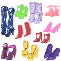 Wholesale Pair Fashion Colorful Doll Accessories Shoes Heels Sandals For Barbie Dolls Best Gift For Girl Baby Toys