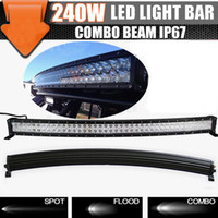 Spot 30 degree(30°)+Flood 60 degree(60°) 19200lm 42'' 40'' 240W Curved Offroad LED Light Bar Spot Flood Combo Beam 10-30V LED Light Bar Super Bright 19200lm 4x4 off road ATV SUV Jeep 42 inch