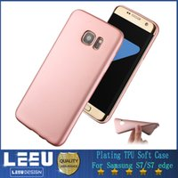 apples silicone oil - Luxury Silicone Plating TPU Case for samsung s7 s7 edge Slim Soft TPU Gel Case Protect Camera Full Cover with Good Oil Handle Feeling