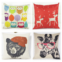 animal pillow prices - 2017 KG New Pillow Case Various Designs Whosale Price Wave Cotton Line Material Printed Animal Image Designs Inches