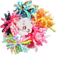 Grossiste - 2 pcs par paire de ruban coloré curler ruban de cheveux pour enfants