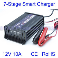 agm auto battery - 12V A Car Battery Charger stage Charger Auto Reverse Pulse Desulfation Charger For GEL AGM Lead Acid Battery