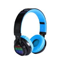 adjustable headbands - Wireless Bluetooth Headphones LED Stereo Classic Adjustable Headsets Great Heavy Bass Headphone for Phones