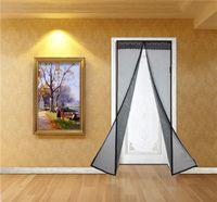 achat en gros de écran de bug magnétique-Rideau Anti-moustique Thermomagnétique Home Mesh Mains-libres de l'écran Net Magnetic Anti Mosquito Bug Door Rideau Sheer Rideaux