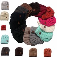 Wholesale Newest women CC hats Wool Beanie Winter Knitted Hats Warm Hedging Skull Caps Hand Crochet Caps Hats colors C1775