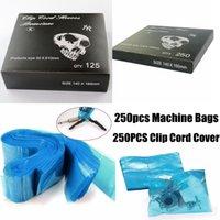 bag clipping machine - New Arrival Tattoo Clip Cord Sleeves Covers Tattoo Machine Gun Bags Coves Blue Disposable Hygiene Clean Bag Supply