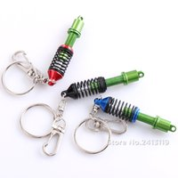 Wholesale 10 Car Turbo Tein JDM Damper Coilover Keychain Key Chain Rings Auto Accessories Pendant Keyholder Decal Keyrings Suspension