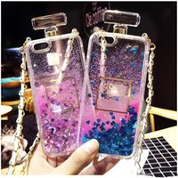 armband case cover - Fashion Transparent phone cases Fun Glitter Love Quicksand Liquid Phone Back cover For Iphone s plus